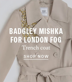 Badgley Mishka for London Fog trench coat