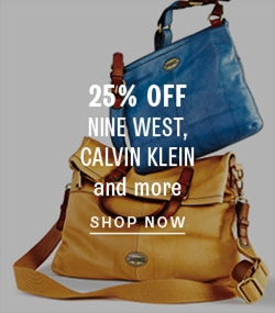 25% off Calvin Klein handbags and more