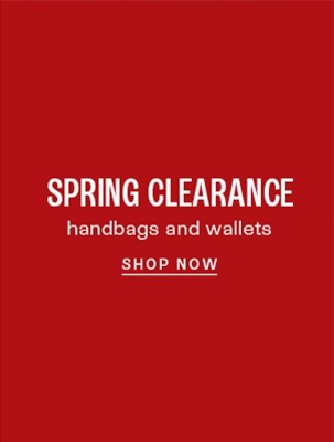 Clearance handbags and wallets: up to 60% off