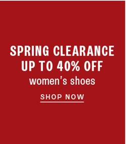 Up to 40% off women's clearance shoes