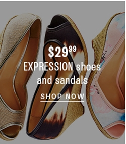 $29.99 Expression shoes and sandals