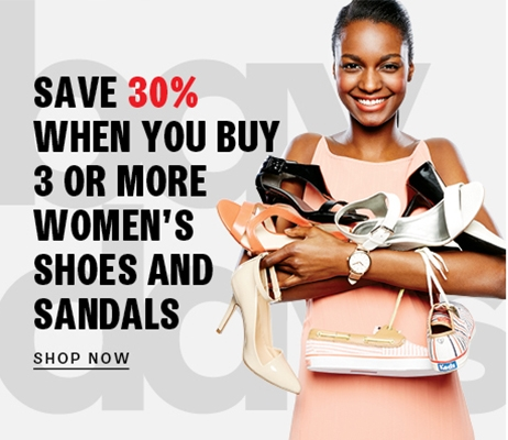 Save up to 30% on women's shoes