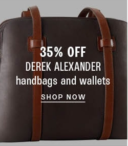 35% off Derek Alexander handbags and wallets