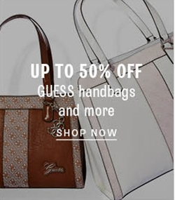 Up to 50% off GUESS handbags and more