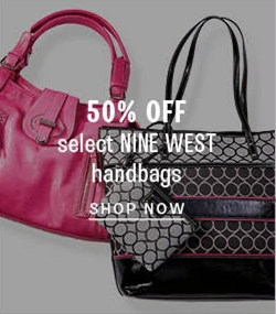 50% off select Nine West handbags