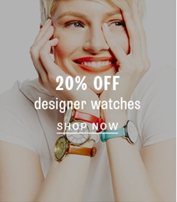 20% off designer watches