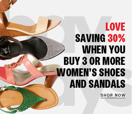 Buy more save more on women's shoes and sandals