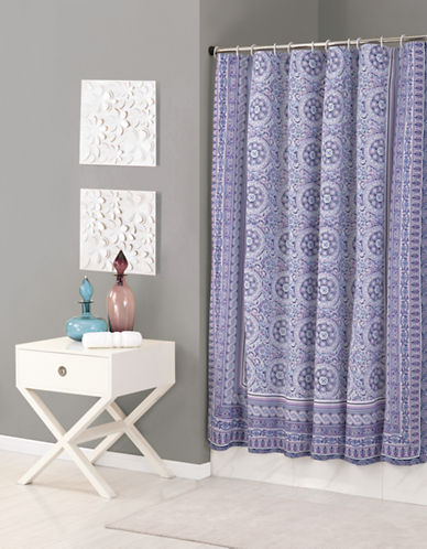 Jessica Simpson Enchanted Mosaic Shower Curtain-PURPLE-One Size