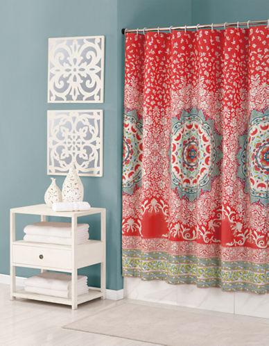 Jessica Simpson Amerita Medallion Shower Curtain-ORANGE-One Size