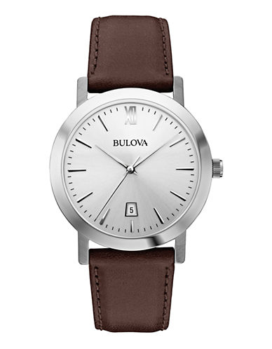 Bulova Mens Analog  Classic Collection Watch 96B217-BROWN-One Size