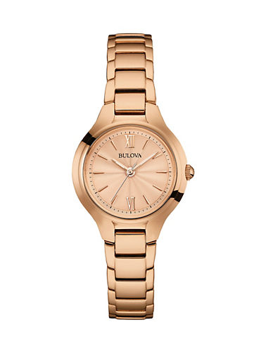 Bulova Classic Collection Rose Goldtone Stainless Steel Analog Watch-ROSE GOLD-One Size