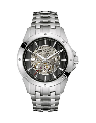 Bulova Analog Automatic Collection Watch 96A170-SILVER-One Size
