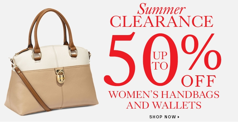 Up to 50% off clearance handbags and wallets
