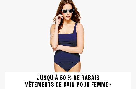 Up to 50% off women's swimwear