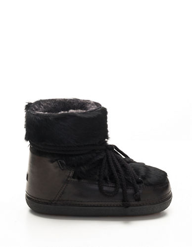 Ikkii Rabbit Fur Shearling Leather Moon Boots-BLACK-EUR 36/US 6