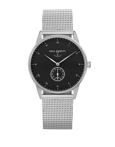 Paul Hewitt Black Stainless Steel Mesh Bracelet Watch-SILVER-One Size