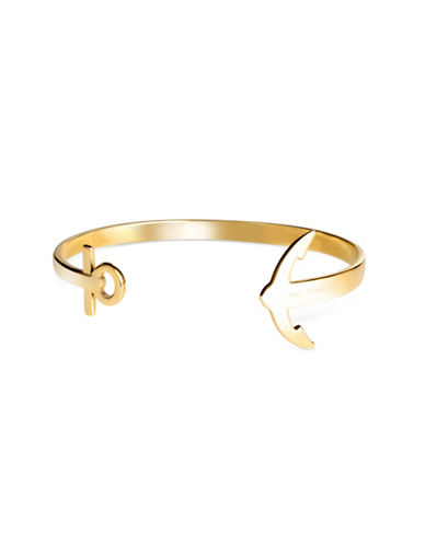 Paul Hewitt Anchor Cuff Bracelet-GOLD-Large