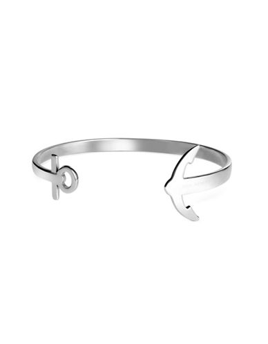 Paul Hewitt Anchor Cuff Bracelet-SILVER-Large