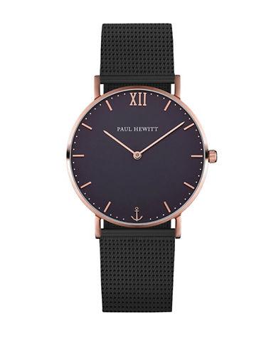 Paul Hewitt Analog Blue Lagoon Two-Tone Mesh Bracelet Watch-BLACK-One Size