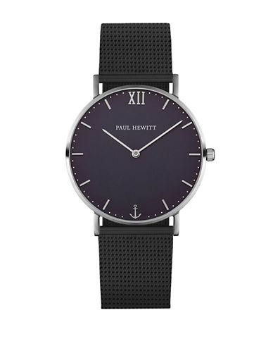 Paul Hewitt Analog Blue Lagoon Two-Two Mesh Bracelet Watch-BLACK-One Size