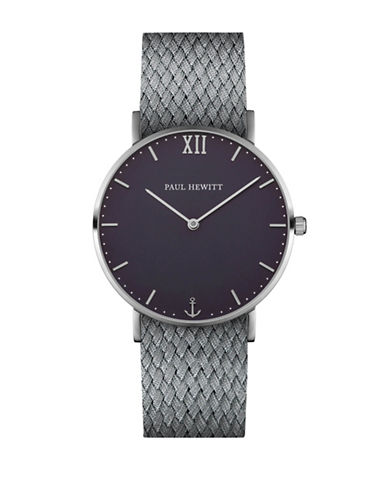 Paul Hewitt Analog Blue Lagoon Stainless Steel Perlon Strap Watch-GREY-One Size