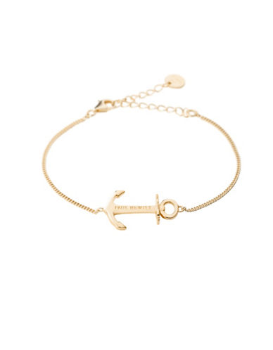 Paul Hewitt Anchor Spirit 18K Gold-Plated Bracelet-GOLD-One Size