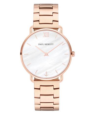 Paul Hewitt Miss Ocean Line Pearl IP Rose Goldtone Stainless Steel Bracelet Watch-ROSE GOLD-One Size