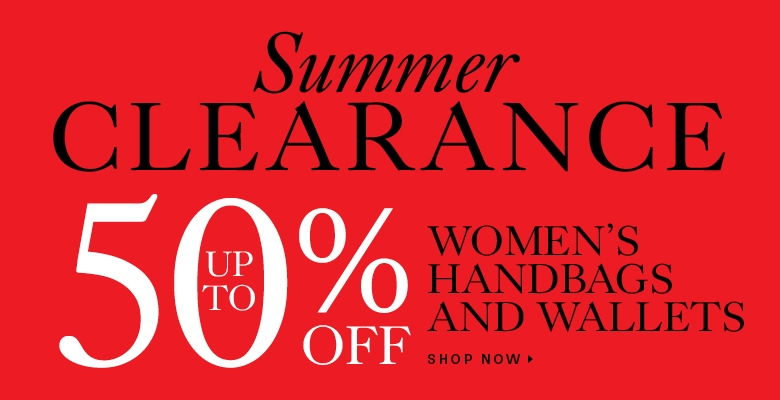 Summer clearance on handbags and wallets