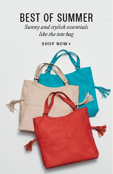 Summer Essentials: totes and duffel bags