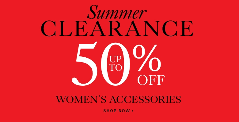 Up to 50% off women's accessories