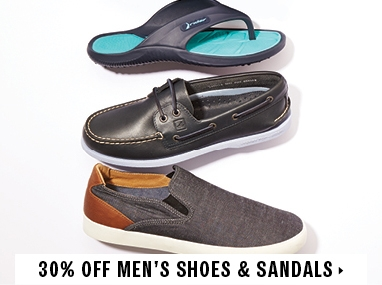 30% off men's shoes and sandals