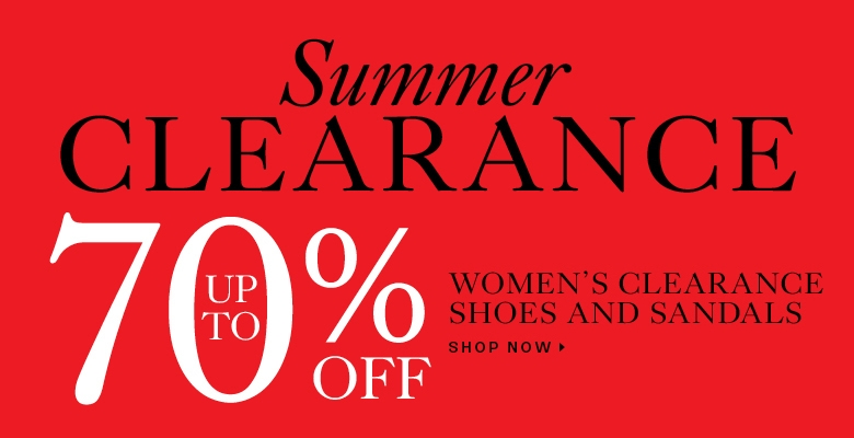 Up to 70% off clearance shoes and sandals