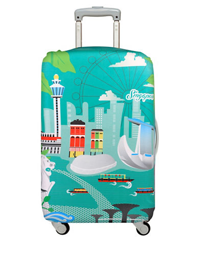 Loqi Urban Singapore Medium Luggage Cover-PRINT-One Size