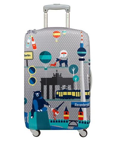 Loqi Urban Berlin Medium Luggage Cover-PRINT-One Size