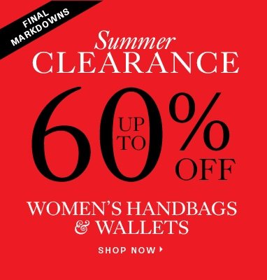 Up to 60% off handbags and wallets