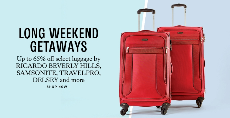 65% off select luggage