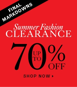 Up to 70% off clearance