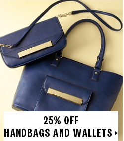 25% off handbags and wallets