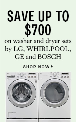 Save up to $700 on washer and dryer sets