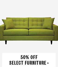 50% off select furniture