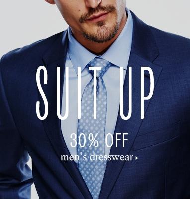 30% off men's dresswear