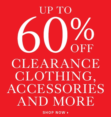 Up to 60% off clearance