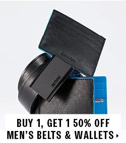 Buy 1 Get 1 50% off men's belts and wallets