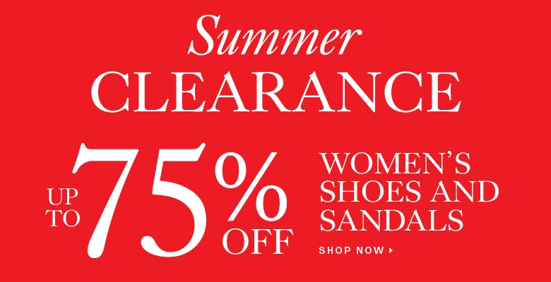 Clearance shoes and sandals