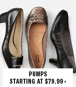 Pumps starting at $79.99
