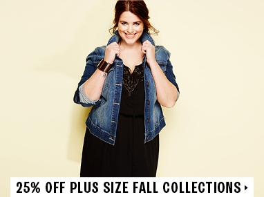 25% off plus size collections