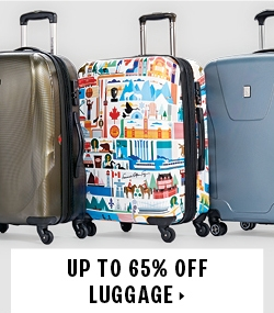 Up to 65% off luggage