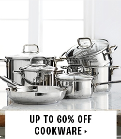 Up to 60% off cookware