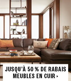 Up to 50% off leather furniture