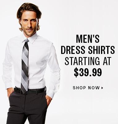Men's dress shirts starting at $39.99
